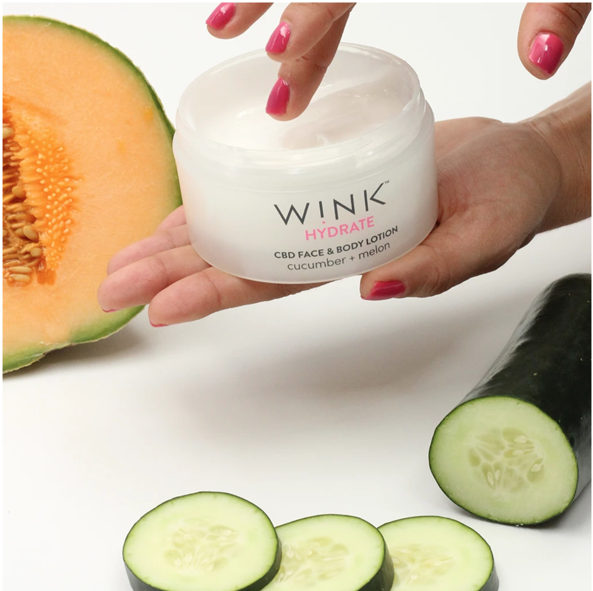 Wink Hydrate Cucumber Melon Face + Body Lotion
